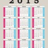 2015 grid calendar creative design vector 03