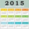 2015 grid calendar creative design vector 04