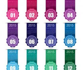 2015 grid calendar creative design vector 05