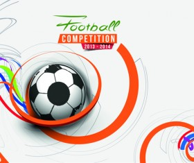 Abstract football elements background vector 01