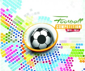 Abstract football elements background vector 02