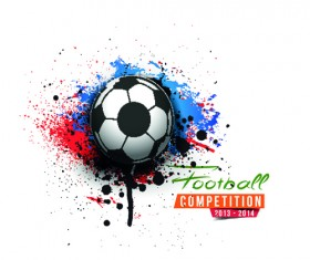 Abstract football elements background vector 04