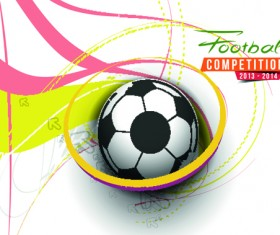 Abstract football elements background vector 05