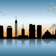 Link toBeautiful waterfront city scenery vector set 04