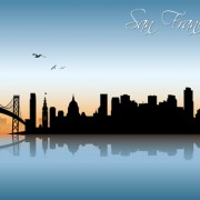 Link toBeautiful waterfront city scenery vector set 07