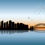 Link toBeautiful waterfront city scenery vector set 09