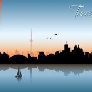 Link toBeautiful waterfront city scenery vector set 10