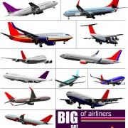 Link toBig airplanes model set vector 01