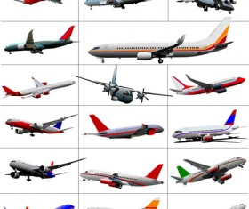 Big airplanes model set vector 02