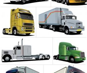 Big trucks creative vector material