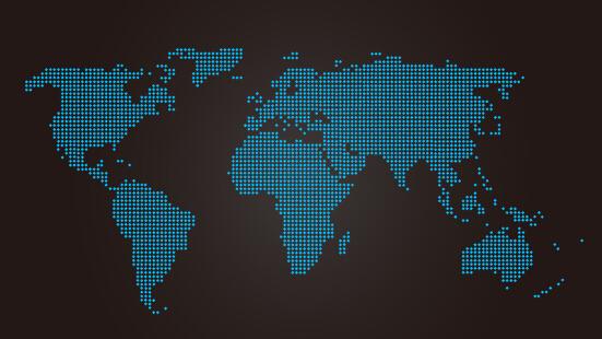 Blue LED world maps vetor
