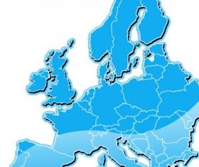 Blue europe map design vector