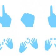Link toBlue hand gesture vector graphics