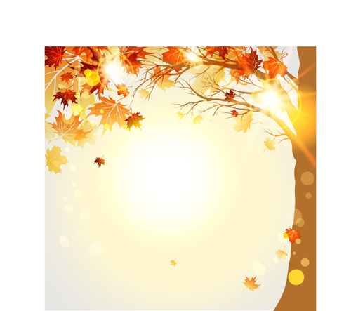 Fall Leaves Background Vector - bright autumn leaf backgrounds vector ...