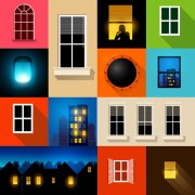 Link toBrightly lit midnight city vector background 02