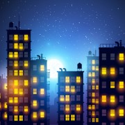 Link toBrightly lit midnight city vector background 03