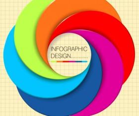 Brilliant colored round vector background art