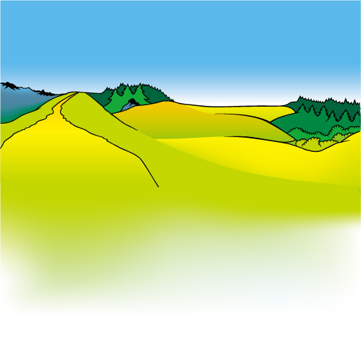 Cartoon mountains landscapes vector graphics 03