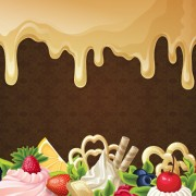 Link toChocolate with dessert sweets vector background 01