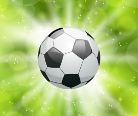 Classic football vector background material 02