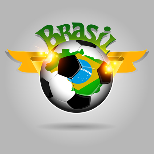 Classic football vector background material 04