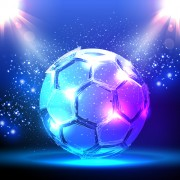 Classic football vector background material 05