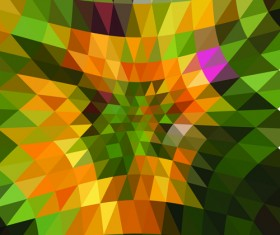 Colored triangle abstract background vector 02