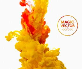 Colorful Ink magic effect background vector 01