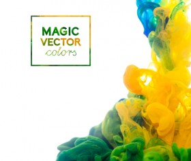 Colorful Ink magic effect background vector 03