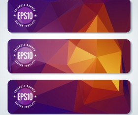 Combination triangle vector banners graphics 01
