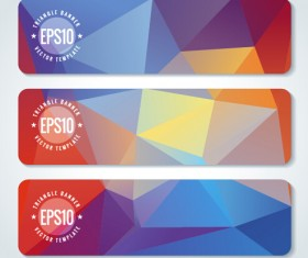 Combination triangle vector banners graphic 02