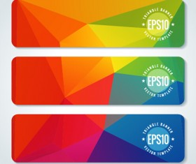 Combination triangle vector banners graphic 04