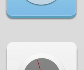 Compass with clock icons psd