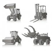 Link toConstruction vehicles design vector set