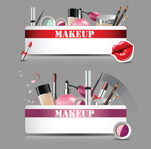 Cosmetics with makeup vector banners set over millions vectors cosmetics with makeup vector banners set toneelgroepblik Images