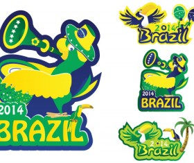 Creative 2014 Brazil World Cup logos vector material