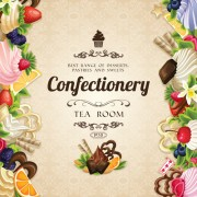 Link toCreative confectionery with sweet background vector 01