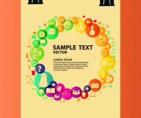 Creative education idea infographics vector 01