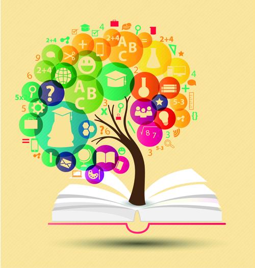 Creative education idea infographics vector 02