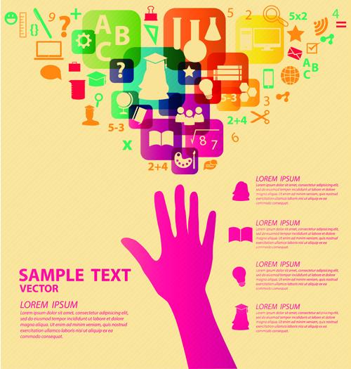 Creative education idea infographics vector 03