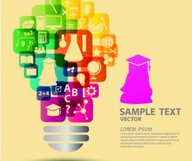Creative education idea infographics vector 05