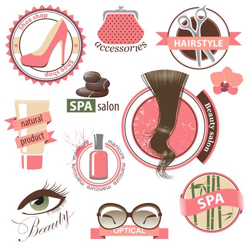 Creative makeup logos and labels vector – Over millions