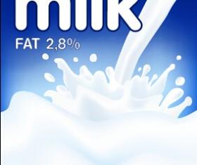 Creative milk advertising poster vectors 05