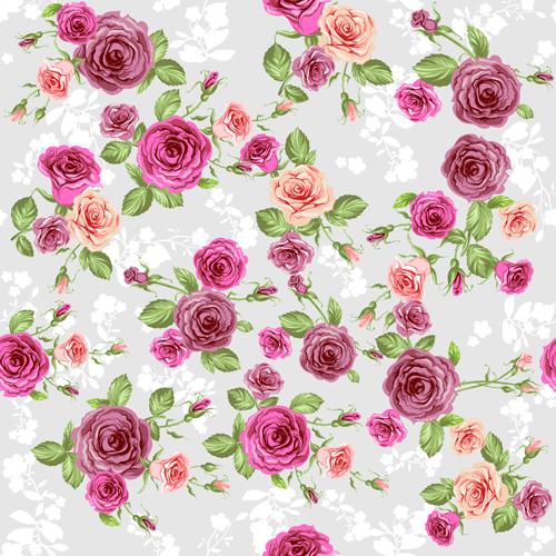Creative Rose Pattern Design Graphics Vector 04 Vector