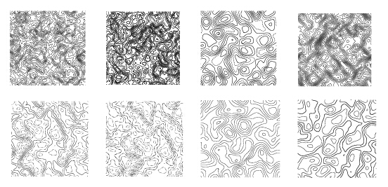 Creative topographic map patterns vector