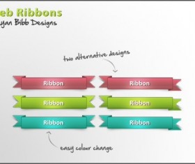 Creative web ribbons psd material