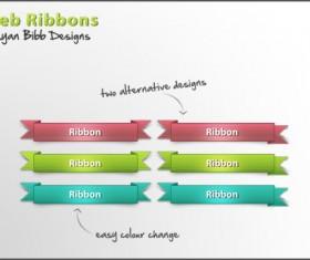 Creative web ribbons psd material