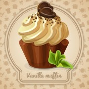 Link toCute cake card design vectors 01