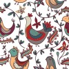 Cute floral ornaments vector seamless pattern 01