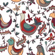 Link toCute floral ornaments vector seamless pattern 01